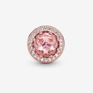 New PANDORA Sparkling Blush Pink Charm